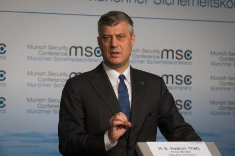 "Kosovo\'s PM Thaci in dialogue with Serbia: ""A lot remains to be done\"". Theo Schneider/Demotix. All rights reserved."