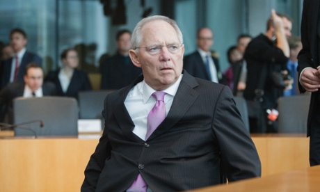 German finance minister Wolfgang Schäuble, earlier this month Photograph: Theo Schneider/Demotix/Corbis