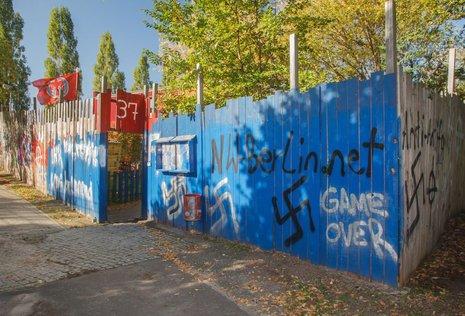 Das »Anton-Schmaus-Haus« war mehrfach Ziel rechtsextremer Angriffe.<br /> Foto: Theo Schneider
