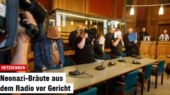 Die Angeklagten verstecken feige ihr Gesicht vor Gericht. Foto: Theo Schneider / Demotix
