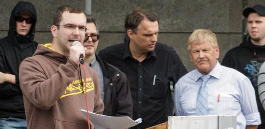 Erfolglose Berliner NPD-Kandidaten Schmidtke, Meenen und Voigt kandidieren wieder © Theo Schneider
