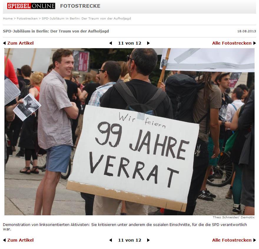 Demonstration von linksorientierten Aktivisten: Sie kritisieren unter anderem die sozialen Einschnitte, für die die SPD verantwortlich war. Theo Schneider / Demotix