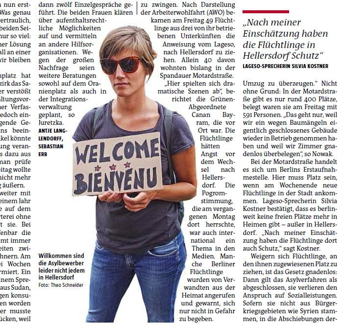 Willkommen sind die Asylbewerber leider nicht jedem in Hellersdorf. Foto: Theo Schneider
